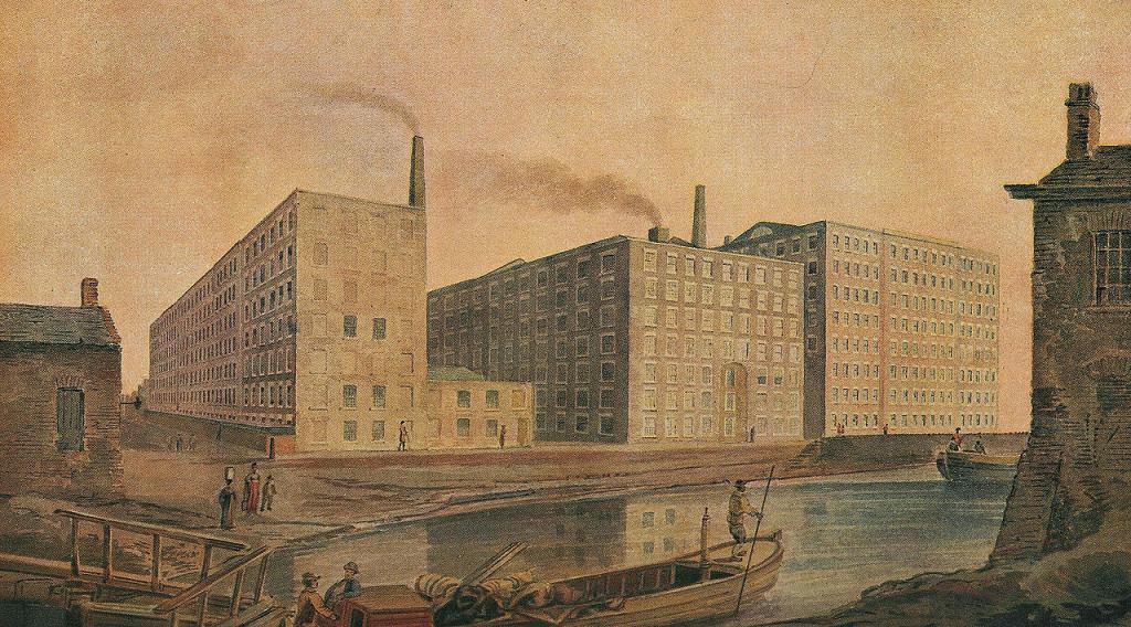 Cotton mills in Ancoats, ca. 1820