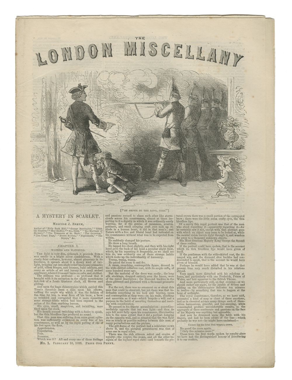 Illustration: A Mystery in Scarlet, The London Miscellany No. 1