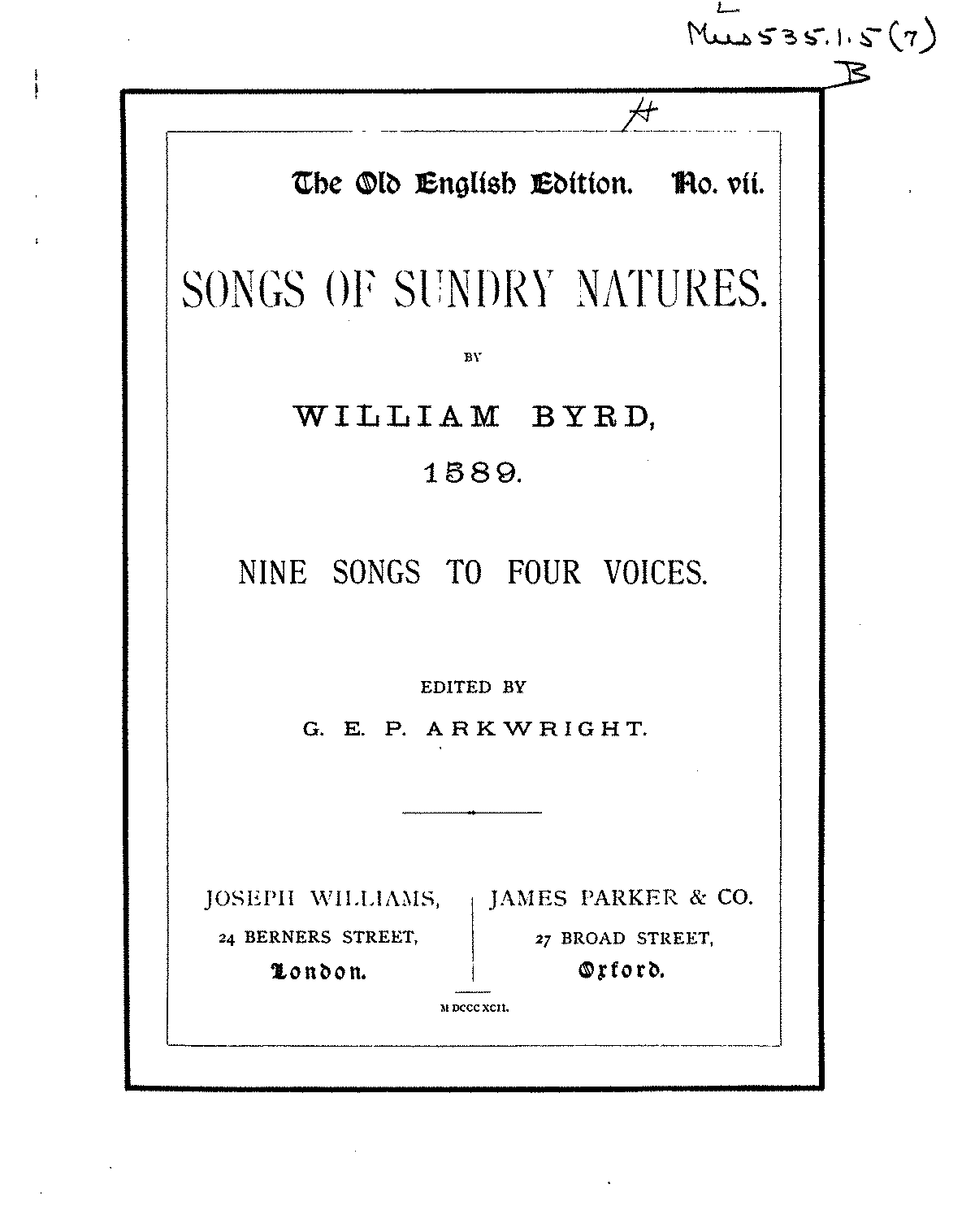 william byrd compositions