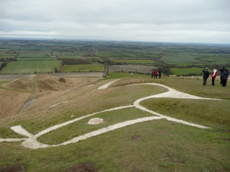 Wendy North, White Horse at Uffington. Wikimedia Commons