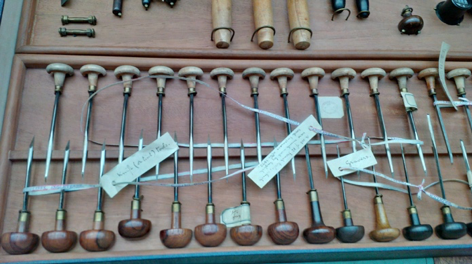 Victorian Wood Engraving Tools in the British Museum. Photo by Lorraine Janzen Kooistra