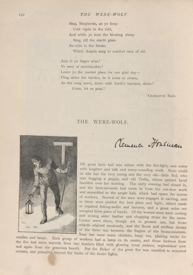 "Page layout for ""The Were-Wolf"" in Atalanta"