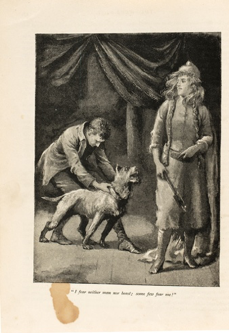 "Everard Hopkins's illustrations for ""The Were-Wolf,"" focussing on the figure of White Fell"