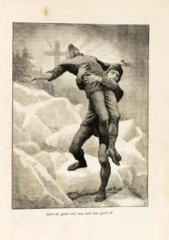 "Everard Hopkins, last full-page illustration for ""The Were-Wolf"" in Atalanta"