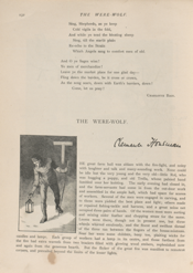 "First page of ""The Were-Wolf"" as a Christmas story in Atalanta: A Magazine for Girls (1890). Public Domain"