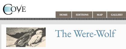 Screenshot of the Header for the Cove Edition of The Were-Wolf (2018)