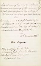 """Christina Rossetti Fair Copy Manuscript of """"In an Artist's Studio"""""""