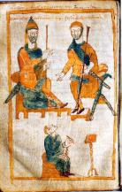 Image of Charlemagne and his eldest son