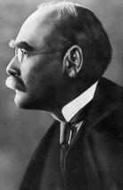 Black and white photograph of Rudyard Kipling circa 1914. Wikimedia Commons.