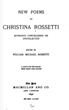 Title Page, New Poems by Christina Rossetti