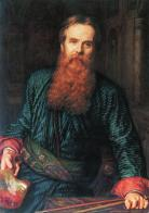 A self-portrait of William Holman Hunt in 1867, 10 years after his piece was published in the Moxon Tennyson.