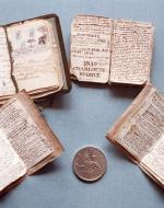 Some of the miniature books created by young Charlotte Brontë.