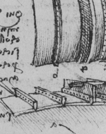 Leonardo da Vinci's sketch representing Verrocchio's metal fusing method for the palla.