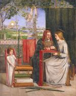 Dante Gabriel Rossetti, The Girlhood of Mary Virgin (1849).