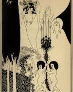 Eyes of Herod Illustration by Aubrey Beardsley as feature in Oscar Wilde's Salome, 1894.