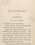 Fairbrass First Page, Artist's Proof Copy