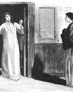 Helen Stoner stands outside her twin sister Julia's bedroom
