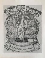Bookplate for William Holman Hunt by Celia Levetus