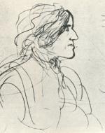 George Eliot, Sketch by George du Maurier (circa 1800's)