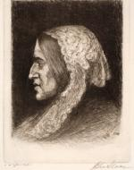 George Eliot, Etching by John Sloan