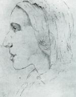 George Eliot, Sketch by Sara Hennell (circa 1847)