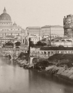 Tiber with Castel Sant'Angelo and St. Peter's Basilica, Rome