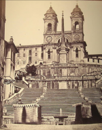 """Trinità dei Monti,"" with The Spanish Steps"