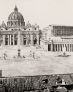 The Piazza and Basilica of St. Peter's, Rome, ca. 1860