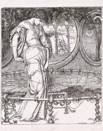 The Lady of Shalott, weaving, engraved by J. Thompson