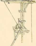 Brunelleschi's crane and hoist that were used to lift heavy objects during project construction.