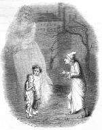 old man looking at two children with ghost