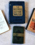 Four Victorian Letter-Writing Manuals. Photograph by Michael Marx, 2010.