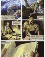 """Catherine Earnshaw's Bible."" Artwork by John M. Burns for Sean Michael Wilson's Wuthering Heights:  The Graphic Novel, Classical Comics, 2011."