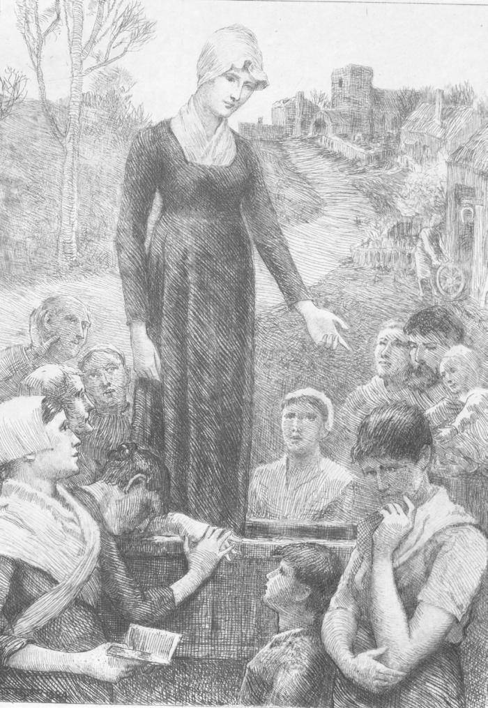 """Dinah Morris Preaching at Hayslope"" by Will H. Low"