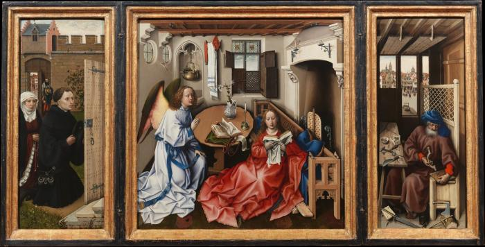Annunciation Triptych by Robert Campin