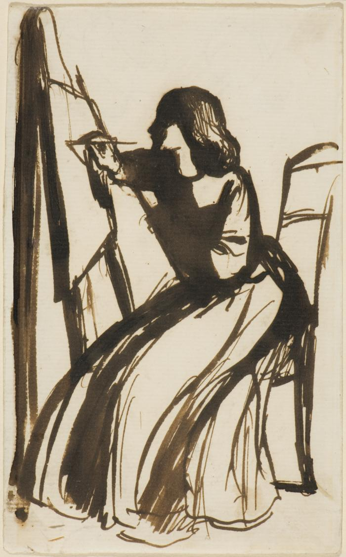 DGR, Elizabeth Siddal Seated at an Easel