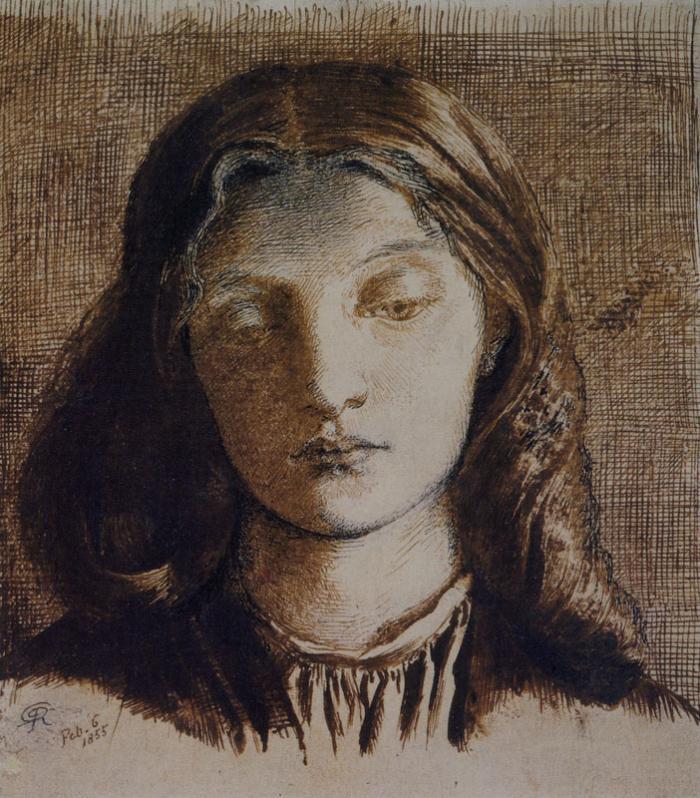 Dante Gabriel Rossetti - Head of Elizabeth Siddal (1855)