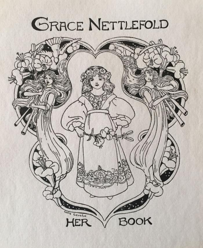 Bookplate for Grace Nettlefold by Celia Levetus
