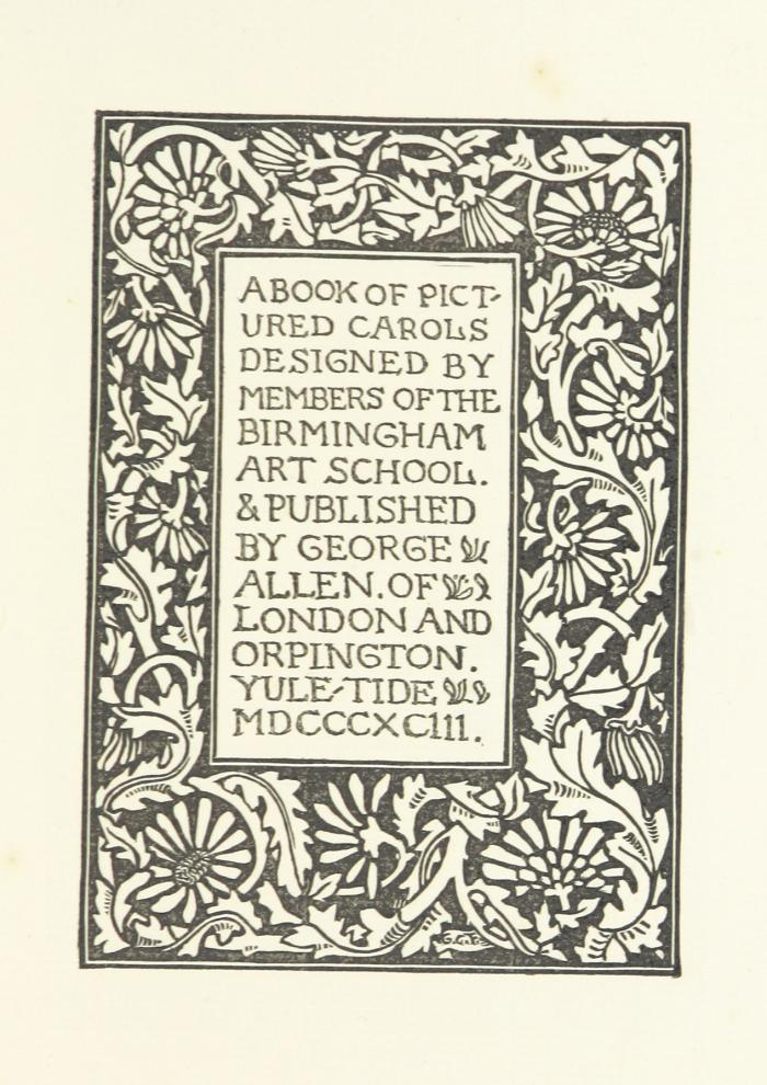 Title Page for A Book of Pictured Carols