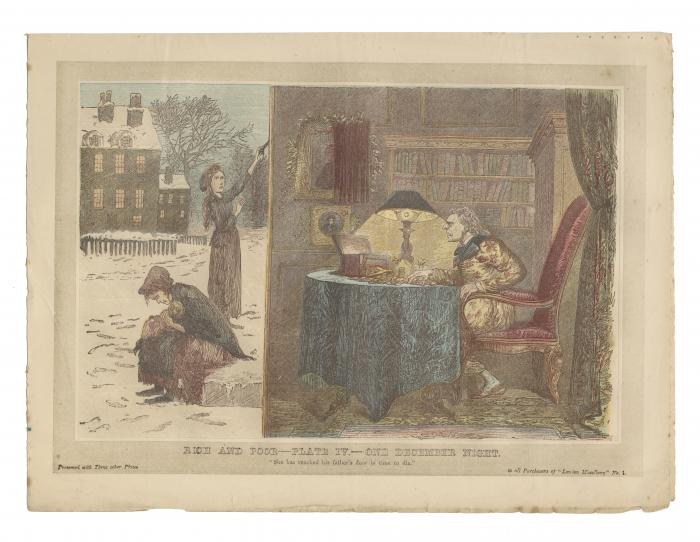 """Rich and Poor--Plate IV.---One December Night."""