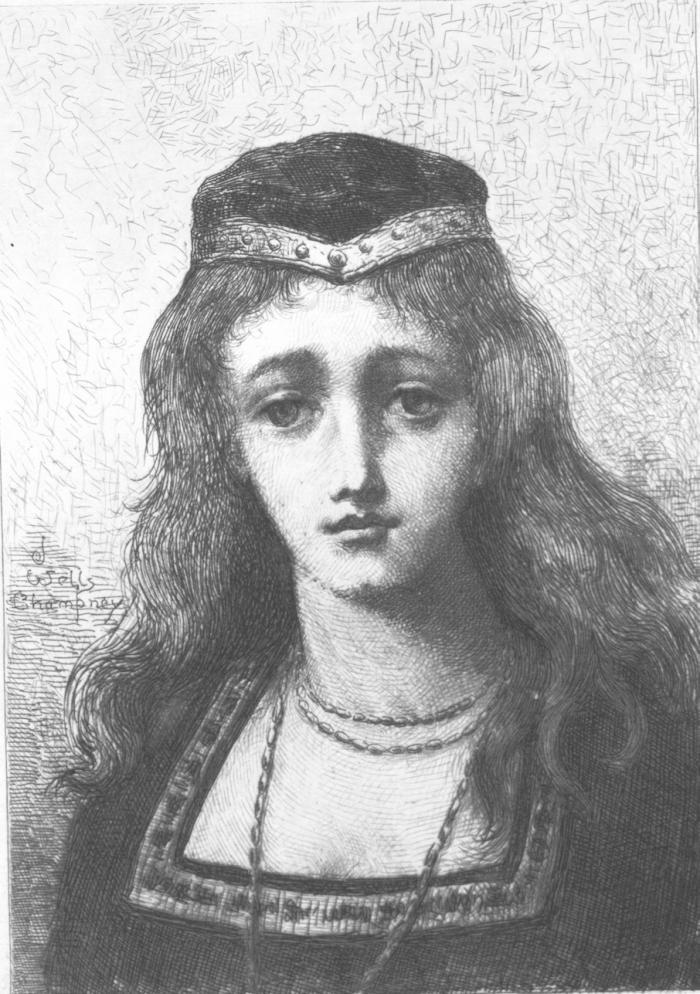 """Lisa"" by J. Wells Champney"