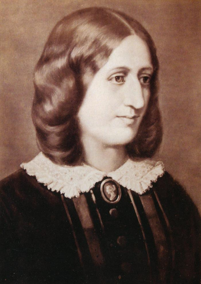 George Eliot, Photograph by Sophus Williams (1854-1855)