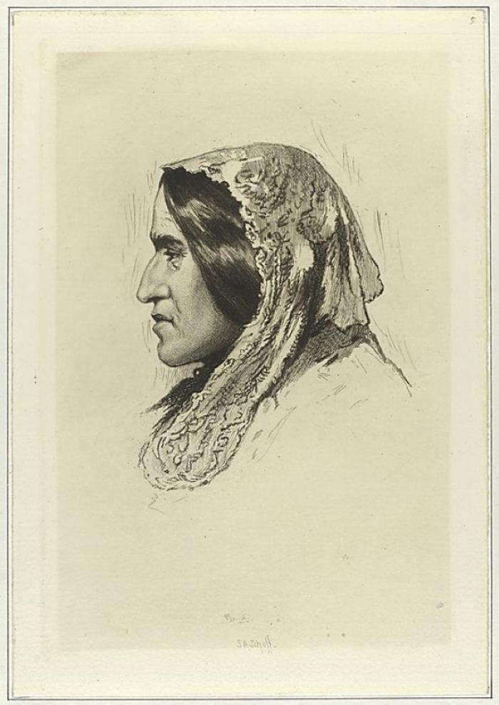 George Eliot, Drawing by Stephen Alonzo Schoff (circa 1872)