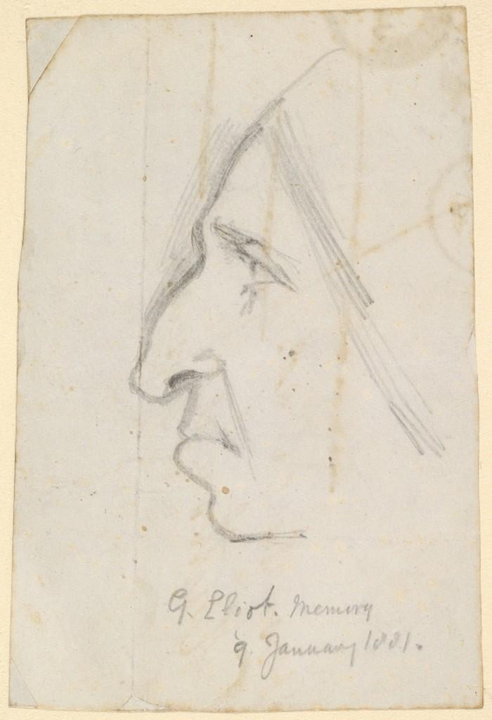 George Eliot, Sketch by George Richmond, from Memory (1881)