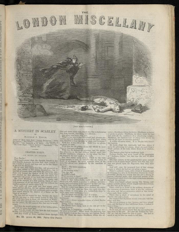 """The King's Victim."" The London Miscellany 12 (28 April 1866), 177"