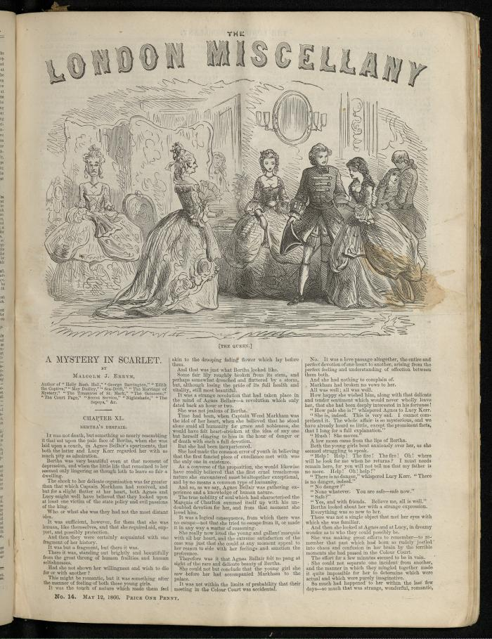 """The Queen."" The London Miscellany 14 (12 May 1866), 209"