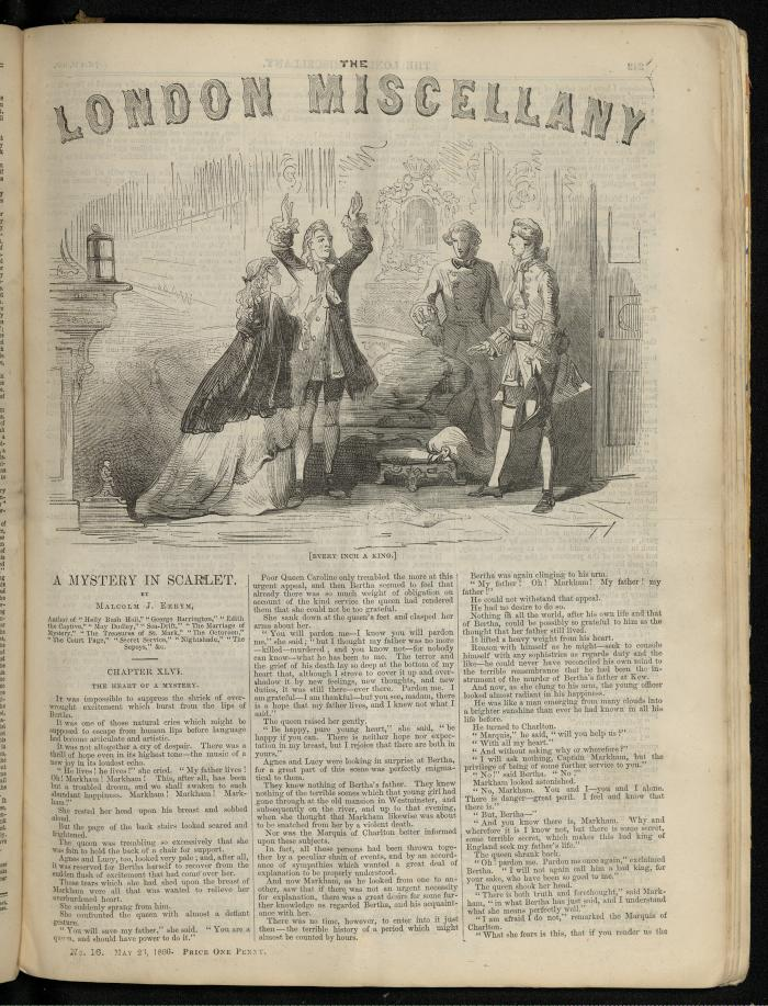 """""""Every Inch a King."""" The London Miscellany 16 (26 May 1866), 242"""