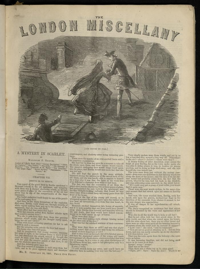 """The House on Fire."" The London Miscellany 3 (24 Feb 1866), 33"