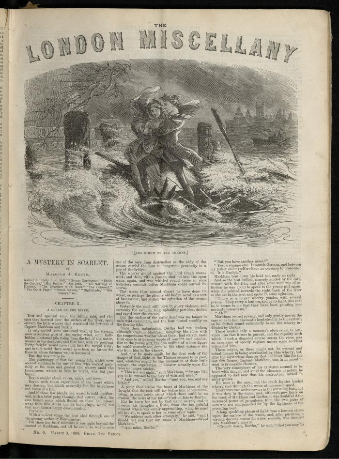 """""""The Storm on the Thames."""" The London Miscellany 4 (3 Mar 1866), 49"""