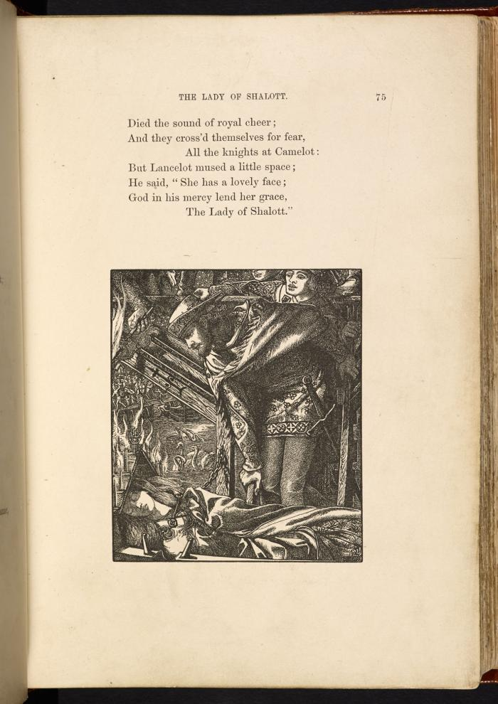 The Lady of Shalott, Lancelot mused, Moxon Edition